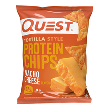 Load image into Gallery viewer, Quest Nutrition -Tortilla Style Protein Chips - Nacho Cheese - Gluten Free, High Protein, Keto & Diabetic Friendly