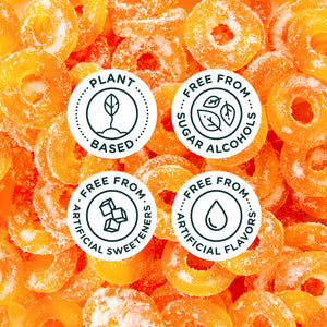 Smart Sweets - Peach Rings - Gluten Free, Plant Based, Sugar Free & Weight Watchers Friendly