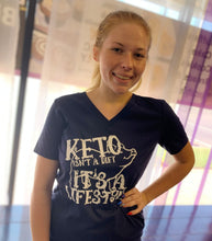 Load image into Gallery viewer, Keto Isn't a Diet ~ It's a Lifestyle - Keto Piggy Shirt, Ketogenic Shirt, Keto Womens Shirt