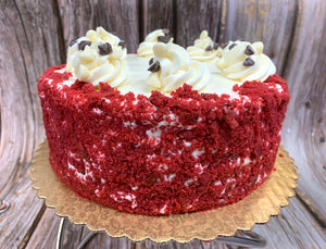 IN STORE ONLY - Keto Red Velvet Cake, Decorated with Cream Cheese Icing - Gluten Free, Sugar Free, Low Carb, Keto & Diabetic Friendly