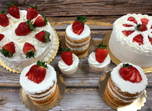 "Load image into Gallery viewer, IN STORE ONLY - Keto 6"" Strawberry ShortCake  - Gluten Free, Sugar Free, Low Carb, Keto & Diabetic Friendly"