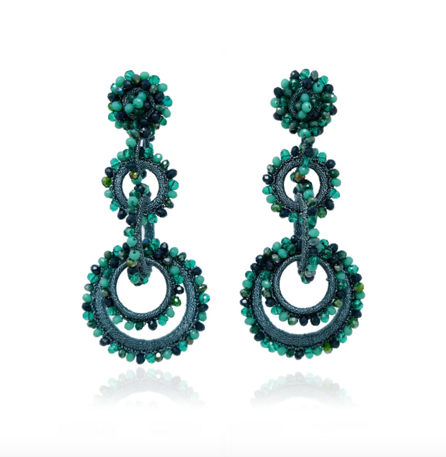 Sundrop Shallow Greens Earrings - Cult8