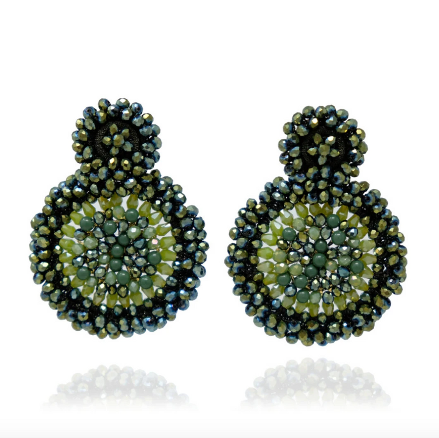 Sunflower Green Earrings - Cult8