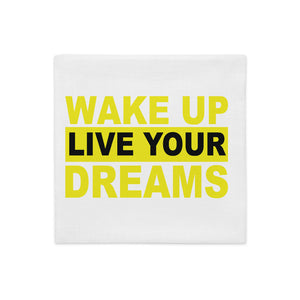 Wake Up double side printed Pillow Case