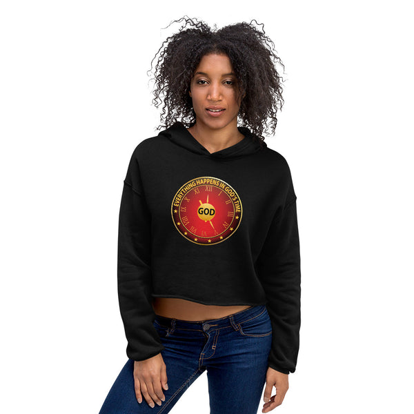 women's double side printed Crop Hoodie