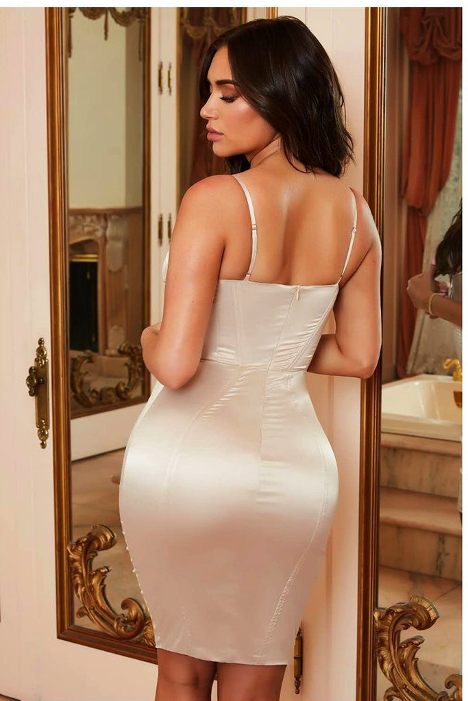 Lace Up Satin Bandage Dresses |  Sexy Satin |  RQFBoutique.com - RQFBOUTIQUE.com