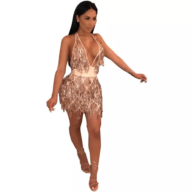 Mesh Bandage Dress | Watch Me Sparkle | RQF Boutique - RQFBOUTIQUE.com