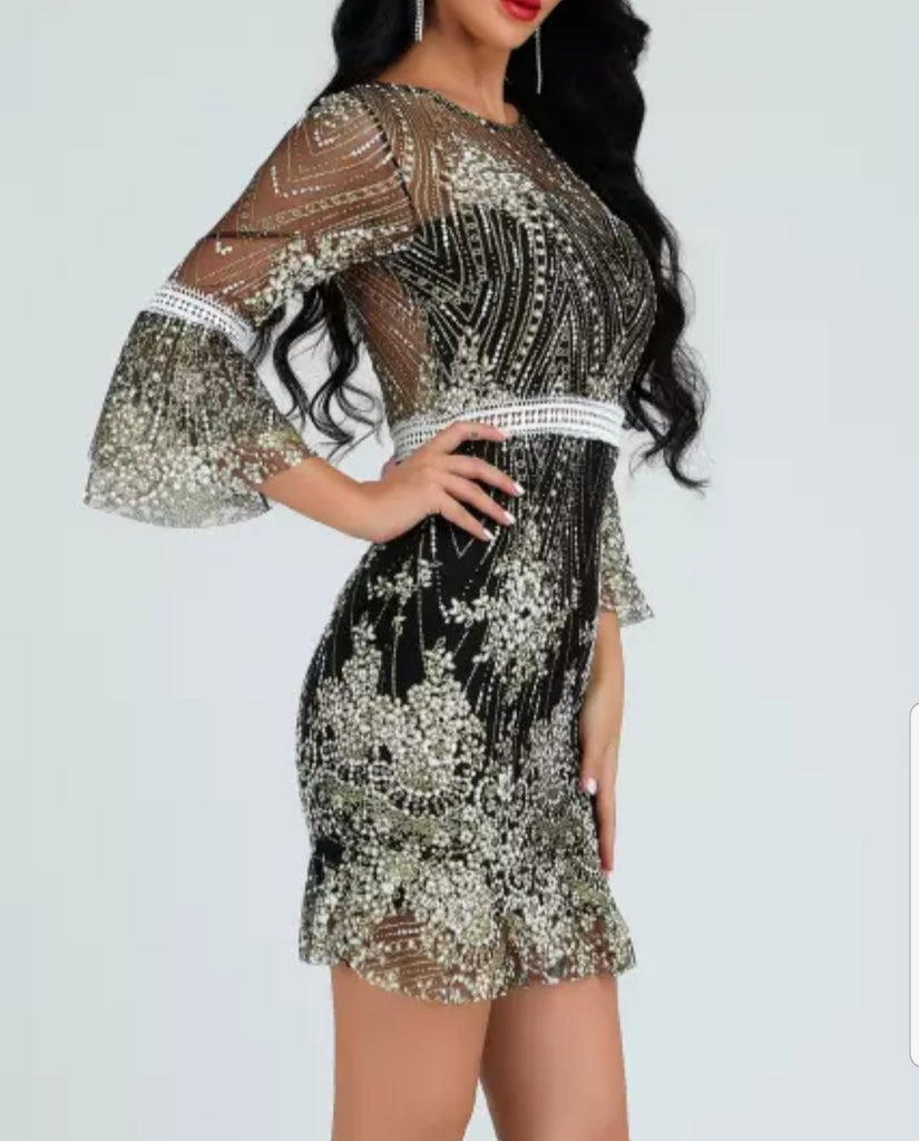 Sheer Bandage Dress | Watch Me Shine | RQF Boutique - RQFBOUTIQUE.com