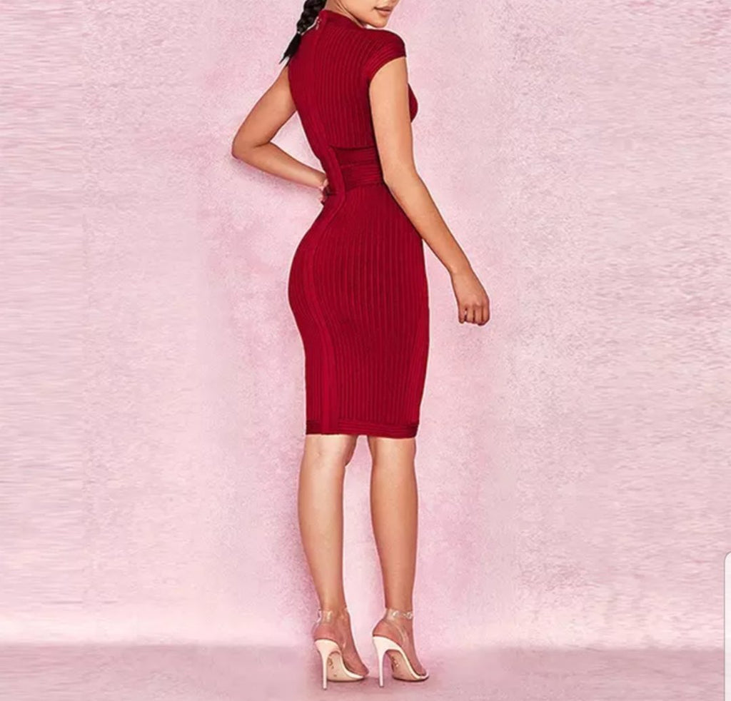 Red Bandage Bodycon Dress | Anything But Basic | RQF Boutique - RQFBOUTIQUE.com