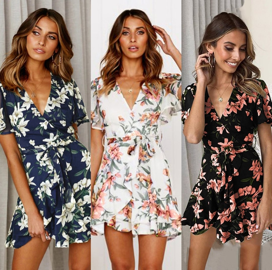 Floral Mini Casual Dress |  Flower Power  |  RQFBoutique.com - RQFBOUTIQUE.com