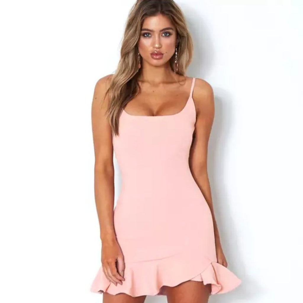 Halter Mini Bandage Dress|  Summer Goddess  |  RQFBoutique.com - RQFBOUTIQUE.com
