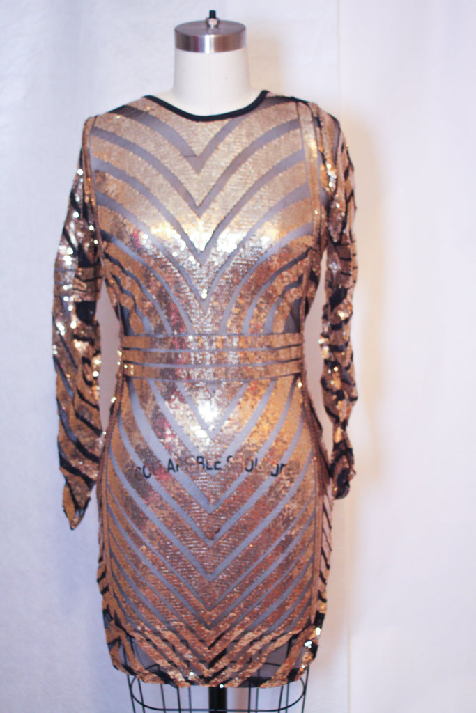 Metallic Bandage Dress | Metallic Magic | RQF Boutique - RQFBOUTIQUE.com