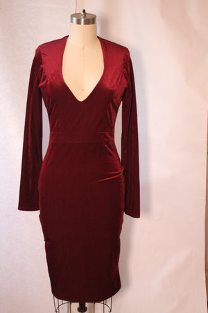 Red Velvet Dress | Va Va Voom | RQF Boutique - RQFBOUTIQUE.com