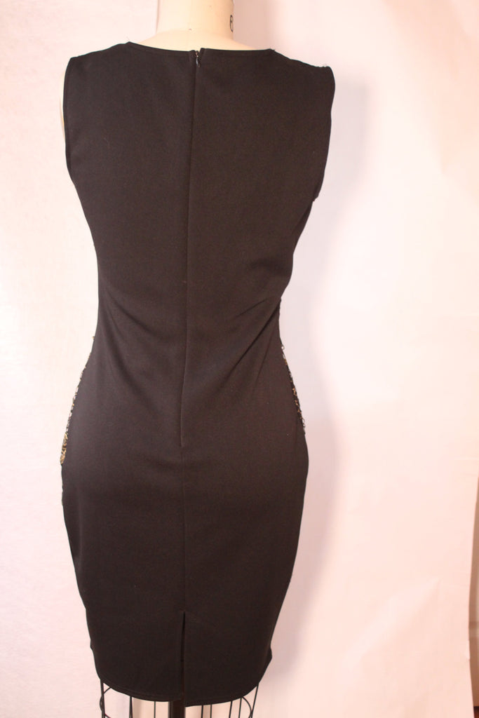 Black and Gold Bandage Dress | Emperial | RQF Boutique - RQFBOUTIQUE.com