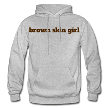 Load image into Gallery viewer, Brown Skin Girl Hoodie - heather gray