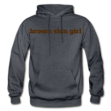 Load image into Gallery viewer, Brown Skin Girl Hoodie - charcoal gray