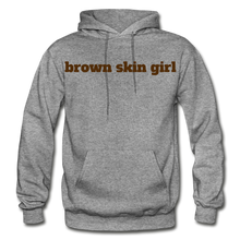 Load image into Gallery viewer, Brown Skin Girl Hoodie - graphite heather
