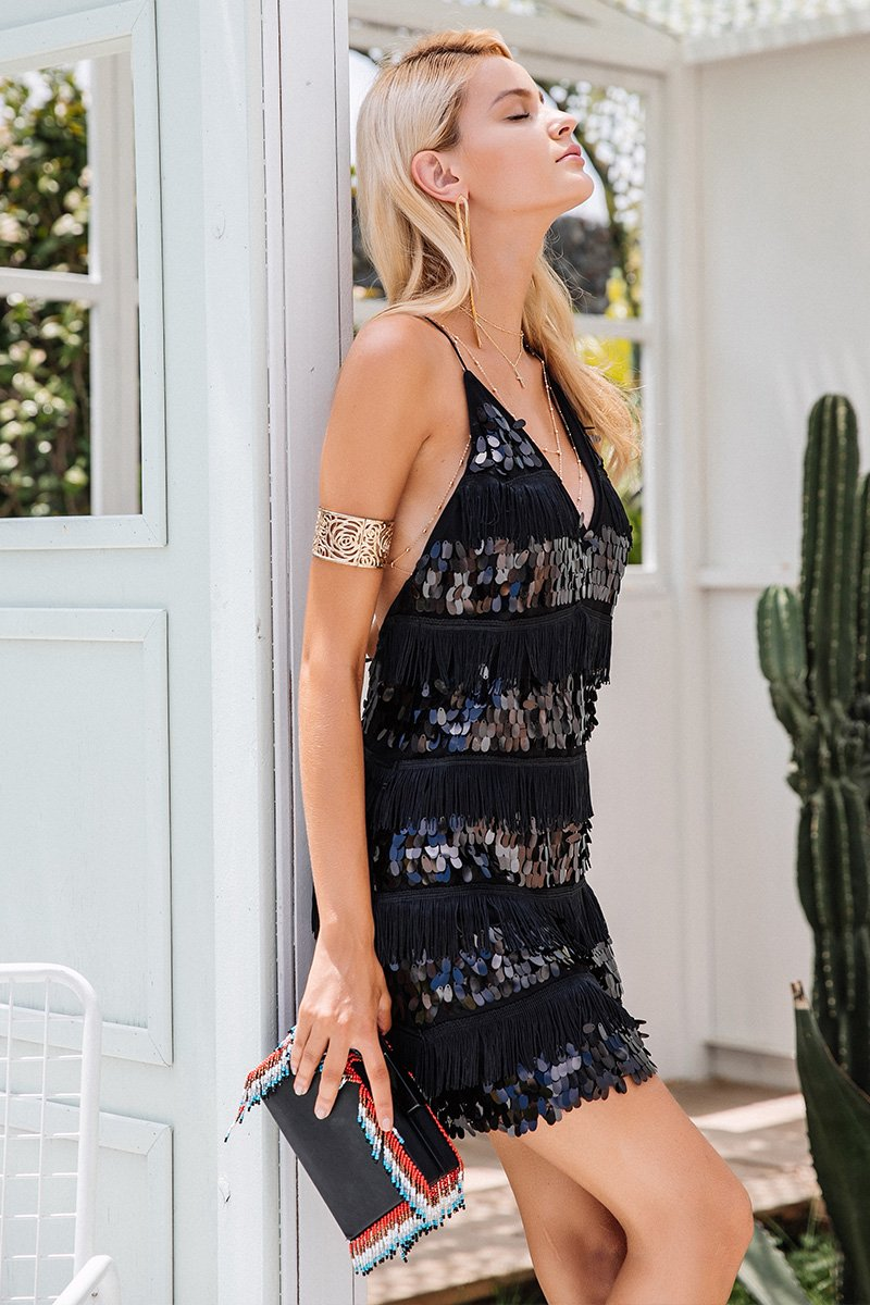 Sexy Tassel Party Dress