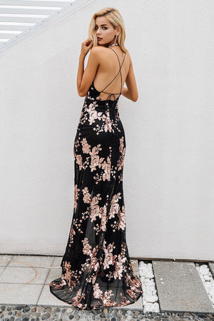 Sexy High Split Gown