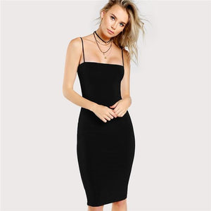 Solid Cami Bodycon Dress