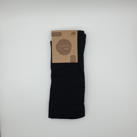 Australian Made Cotton Cushion Foot Dress Sock