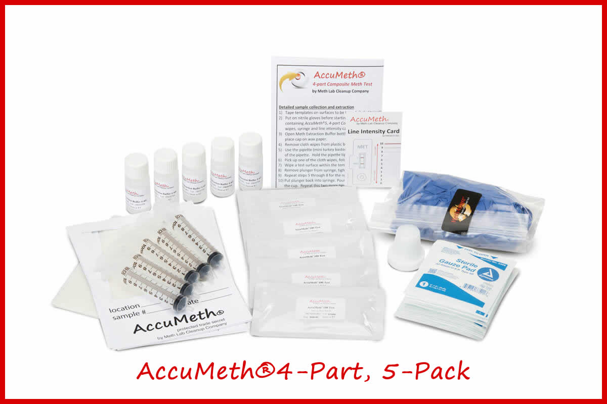 AccuMeth®4-Part Meth Residue Test Kit | 0.1 Standard
