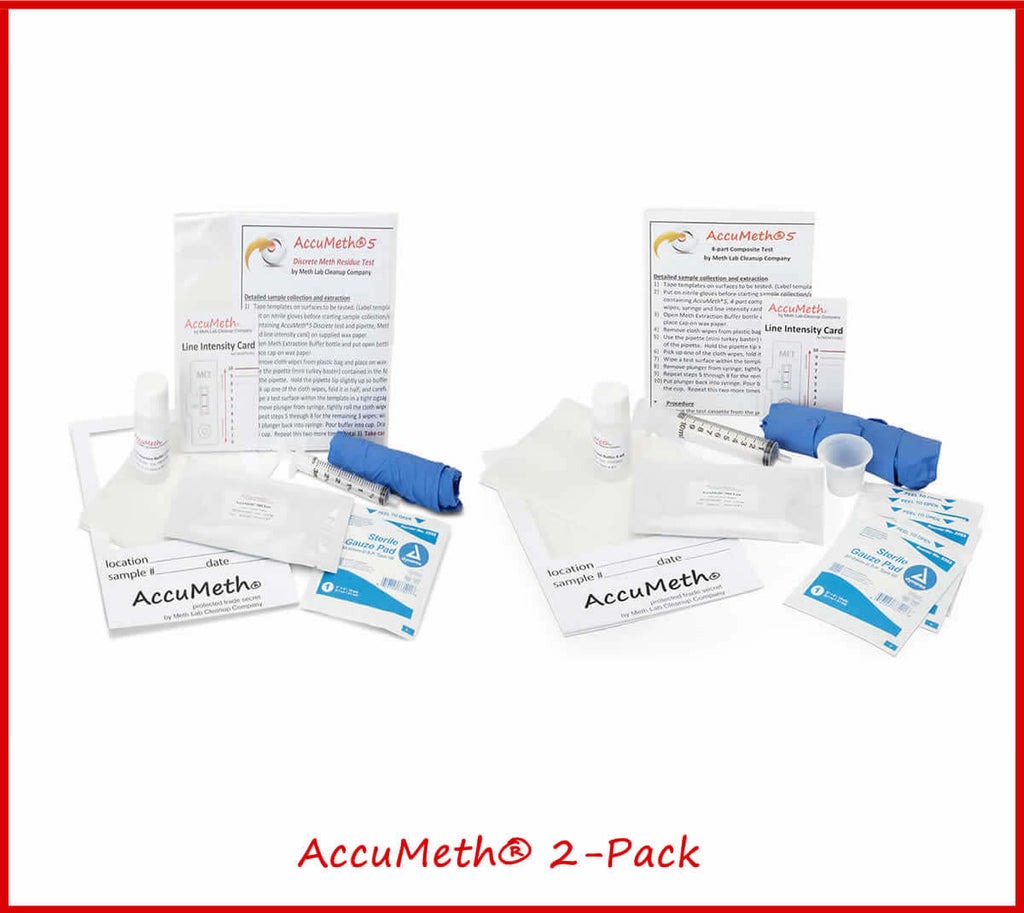 AccuMeth®2-Pack Meth Residue Test Kits | 0.5 Standard