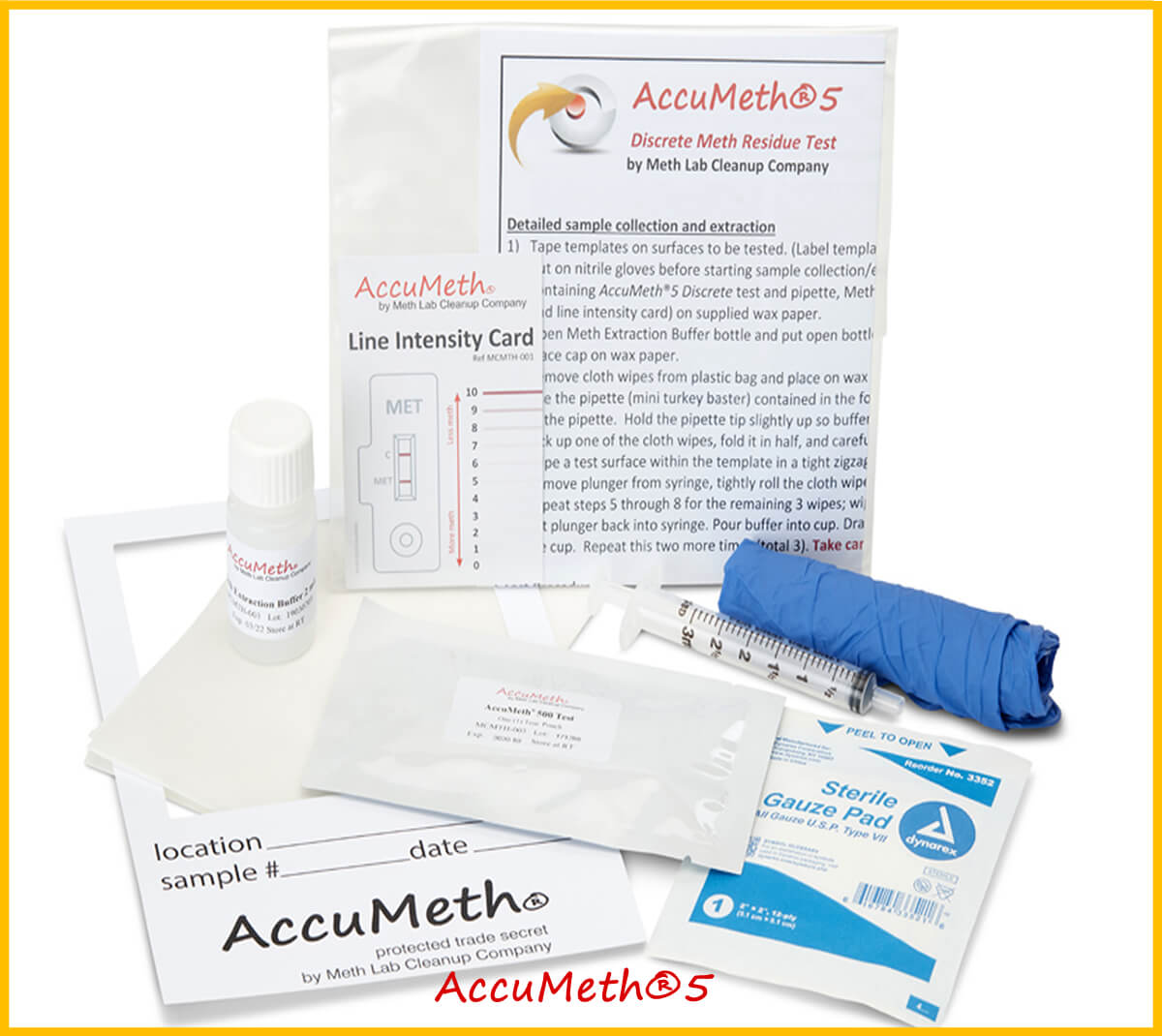 AccuMeth®5 Methamphetamine Test | 0.5 Standard