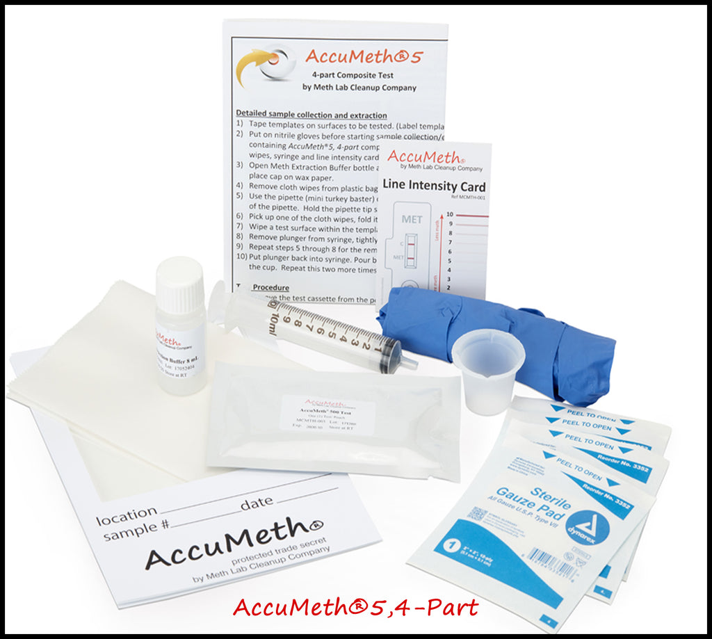 AccuMeth®5,4-Part  Meth Testing Kits | 0.5 Standard