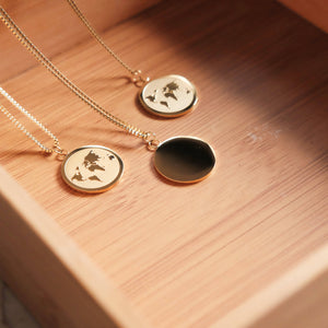 Matte World Map Necklace