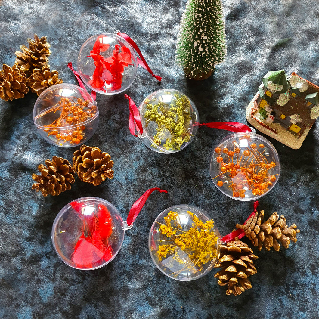 Dried Flower Christmas Ornaments