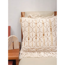 Load image into Gallery viewer, Macrame Cream Pillow Case
