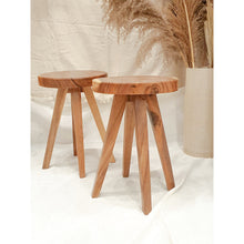 Load image into Gallery viewer, Acacia Low Round Stool