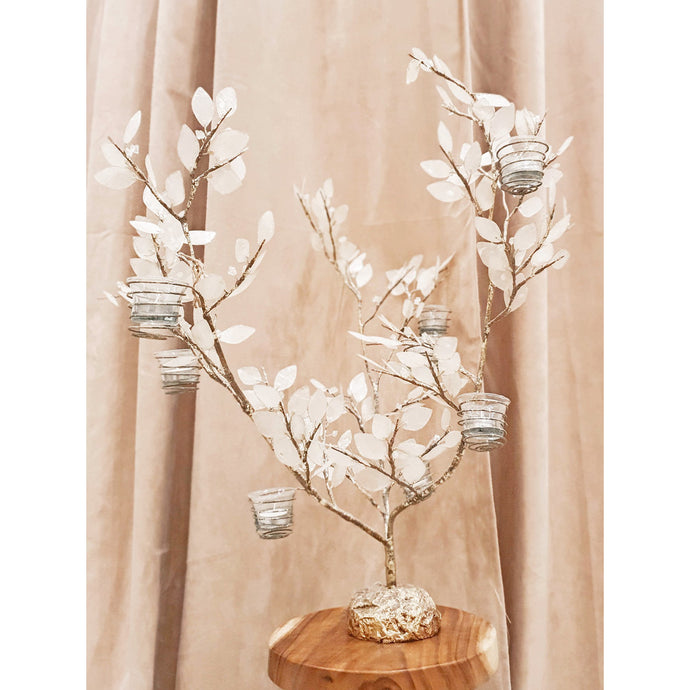 Capiz Tree Candle Holder
