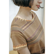 Load image into Gallery viewer, Kelly Embroidered Brown Dress