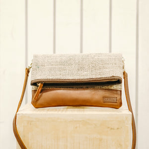 Coffee Sack Clutch & Crossbody Bag