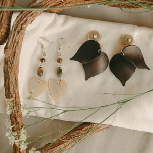 Shell & Wood Earrings