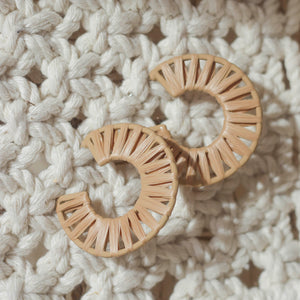 Cleo Weaved Hoop Earrings