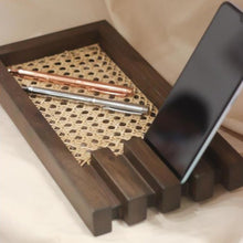 Load image into Gallery viewer, Rectangular rattan tray