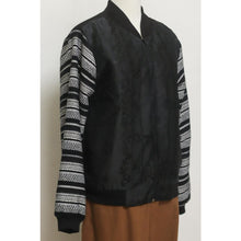 Load image into Gallery viewer, Black Barong Bomber Jacket