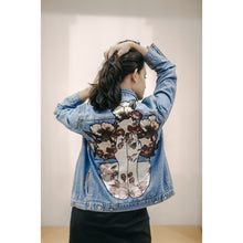 Load image into Gallery viewer, Upcycled Denim Jacket