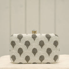 Load image into Gallery viewer, Hand Embroidered White Clutch
