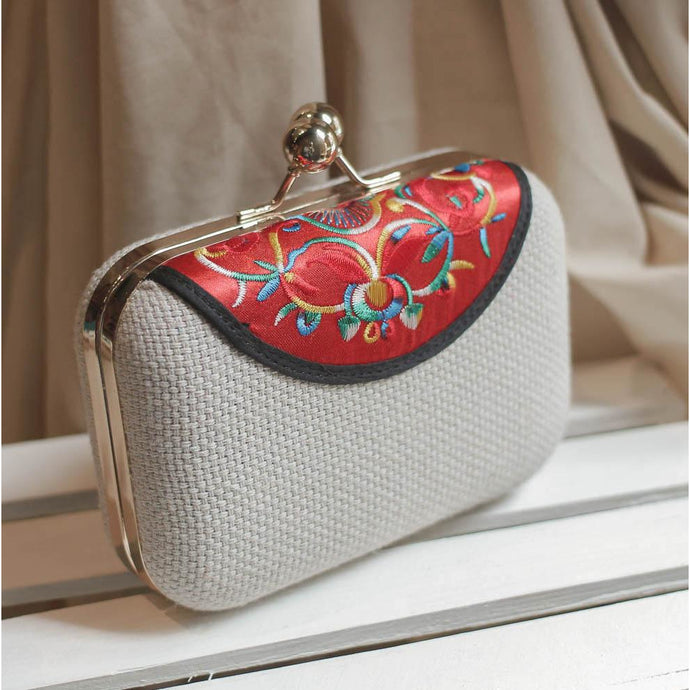 Mini Embroidered Clutch