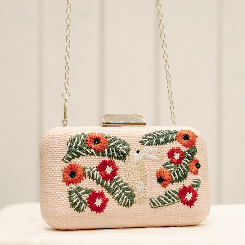 Toucan Pink Clutch Bag
