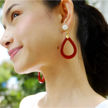 Load image into Gallery viewer, Wallis in Red Agate Earrings