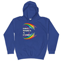 LOVE MAKES A FAMILY - Kids Hoodie