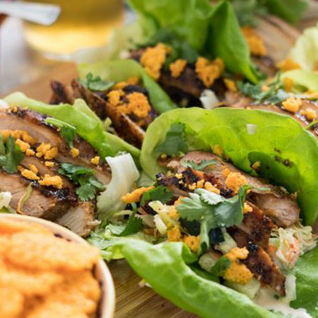 Barbecue Chicken Lettuce Cups