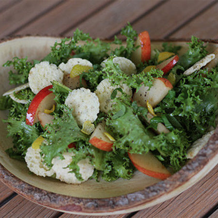 Zesty Pear and Escarole Salad with Maple Vinaigrette