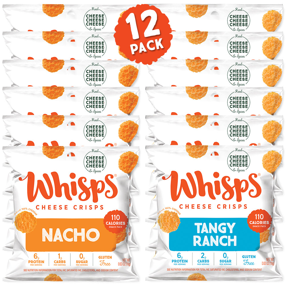 Buy Whisps Tangy Ranch and Nacho Cheese Crisps Variety Pack on Amazon