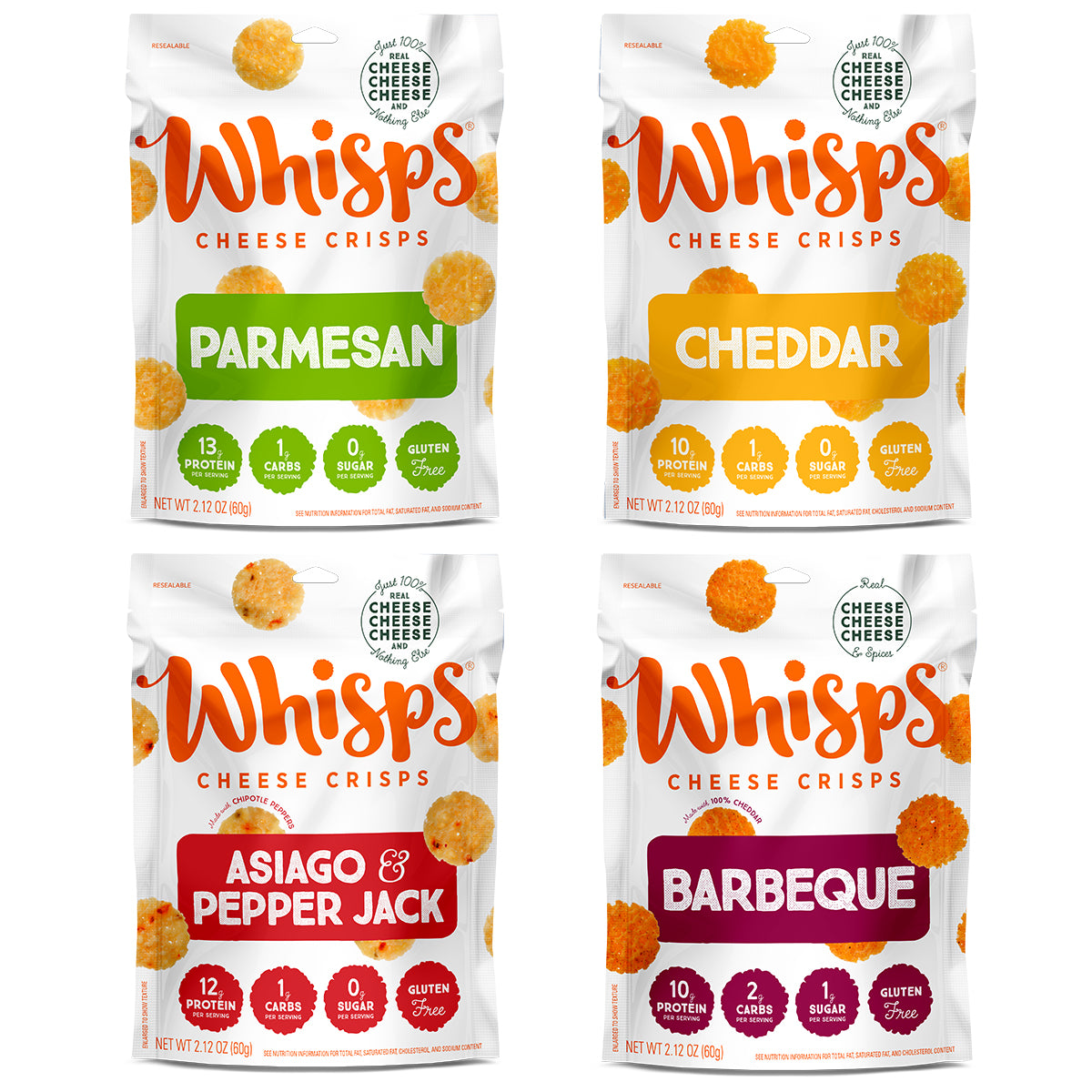 Buy Whisps Parmesan, Cheddar, Asiago Pepper Jack, BBQ Variety Pack on Amazon
